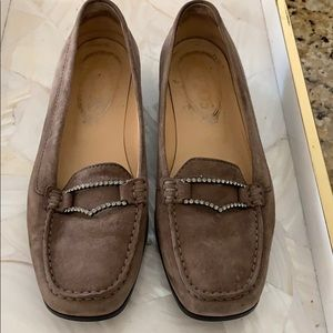Tods Rhinestone accent women's loafers size 8